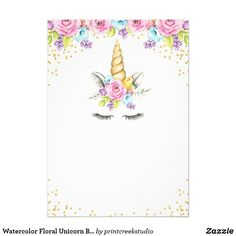 Shop Watercolor Floral Unicorn Baby Shower Invitations created by printcreekstudio. 1st Birthday Party Invitations, Unicorn Invitations, Girl Birthday Themes, Unicorn Birthday Parties, Unicorn Party, Baby Shower Invitations, Unicorn Baby Shower, Create Your Own Invitations, Floral Watercolor