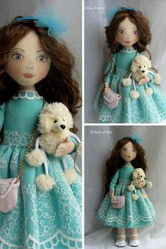 Nursery decor doll Handmade doll Fabric doll by AnnKirillartPlace