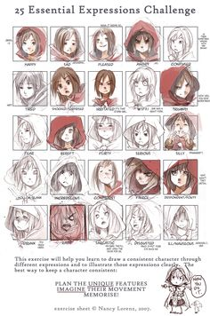 great exercise for drawing a consistent character through different expressions
