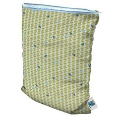 Planet Wise Diaper Wet Bag - Meadow Tweets Medium - I have one for cloth diapering on the go & a 2nd that stays in the car with an extra outfit & cloth diaper for emergencies. They seriously hold in the smell from any poop/puke mess I've ever put in them!