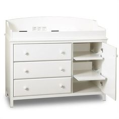 South Shore Cotton Candy 3 Drawer Wood Changing Table
