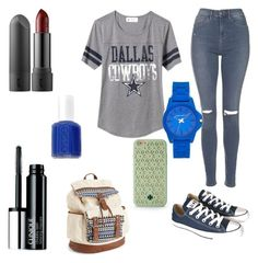 """""""Casual midnight navy"""" by luisa-shield on Polyvore featuring Old Navy, Topshop, Converse, Aéropostale, Tory Burch, Vince Camuto, Clinique and Essie"""