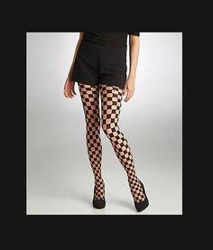 349c148e38ee07 HUE Checker Control Top Tights Natural/Black Size M/L #fashion #clothing