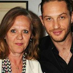 Tom and his mom #lovetomhardy