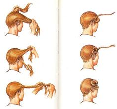 How to tie your hair in a Suebian knot, the distinctive Suebian hair style