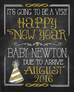 New Year's Day Eve PREGNANCY ANNOUNCEMENT It's by MuchTooGraphic
