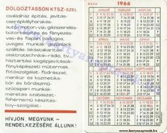 1966 - 1966_0058 - Régi magyar kártyanaptárak