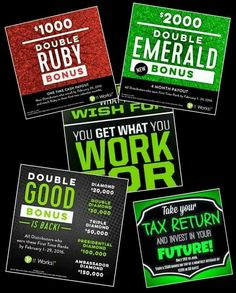 Going for Diamond! Who's ready to build their dream! These Double BONUS have been extended until the end of March! So many Distributors are already receiving these amazing bonuses! I'm so proud of them! Join the journey! You'll be glad you did. www.katloc23.myitworks.com