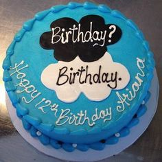 """Birthday? Birthday. Whether it was the movie or the book, this """"The Fault in Our Stars"""" inspired birthday cake is a fan favorite."""