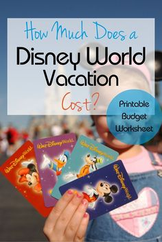 How much does it cost for a Disney World vacation? How much does it cost for a Walt Disney World vacation? Here you can find out what to budget plus use a free printable cost planning worksheet for your trip! Disney On A Budget, Disney Vacation Planning, Disney World Planning, Vacation Ideas, Trip Planning, Disney World Vacation Planning, Hollywood Studios Disney, Disney Universal Studios, Disney World 2017