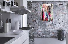 """Peinture Contemporaine Bombe Acrylique sur Toile en Lin """"RED DING"""" : Peintures par borbes"""