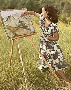 Elizabeth Taylor in the 1940s