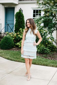 173a14705fc3c Goodnight Macaroon - Mint Green Lace Shift Dress. Nashville FashionGreen ...