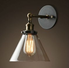 Edison Light Bulb With Vintage Style Brass Wall Light For Bathroom ...