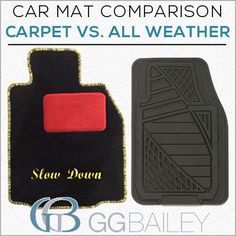 Carpet or All Weather car mats? Click the link and decide for yourself. (Oh, and enjoy free shipping for Father's Day!)
