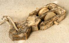 Antique 19`C Primitive Wooden Pulley Reel Weaving Loom Authentic Very RARE   eBay