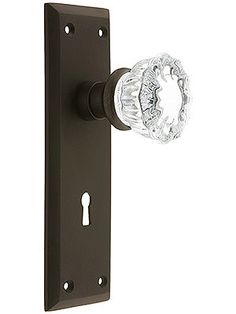 Delicieux New York Style Door Set With Fluted Crystal Glass Door Knobs
