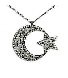 Gümüş Ay Yıldız Kolye RHK164