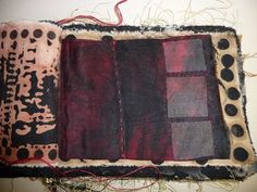 Fabrics book by Noela Mills made in Dorothy Caldwell's class, Fibre Forum, 2010 #mixed_media #textiles #textiles