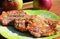 Smak, zapach, kolor, tradycja z nutką nowoczesności...: Racuszki z serkiem wiejskim i jabłkami -pyszne racuchy z jabłkami i cynamonem