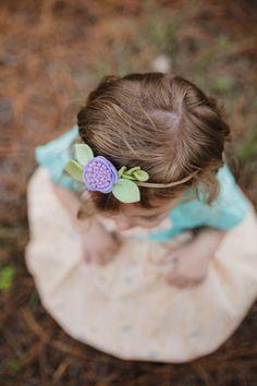Purple headband, Purple Flower Headband, Purple Felt Headband, Baby girl headband, little girl headband, flower headband, felt flower