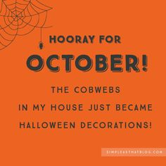 Muhahaha!  Yay for Halloween.   #halloween #spiders #cobwebs #october #moms #dads #parents #parenting #house #home