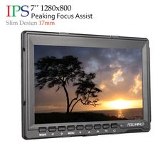 Fw-759 7-Inch Hd IPS Screen Camera Field Monitor with 6800mAh Battery. Wide view angle IPS panel,Ultra HD1280x800 resolution with 6800mAh Battery. Enhanced 400cd/m2 backlight and 800:1 color contrast ratio. Slim design 17mm Portable Light compatible for DSLR Rig, Camcorder Kit, Handheld Stabilizer, Video Camera Crane. Inputs: Video, Audio, HDMI;Outputs: Wire remote OSD controller, Built-in Speaker,3.5mm Audio,. Peaking Focus Assist; Camera 5D II Mode; Check Field:(Red,Green,Blue,Mono)…