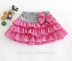 Cute tutu with knit waist band Little Girl Skirts, Little Girl Dresses, Baby Skirt, Baby Dress, Toddler Outfits, Kids Outfits, Kids Frocks, Girl Dress Patterns, Baby Sewing