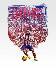 2014/15 season Club Kit launch illustrations by ILOVEDUST and  Nike Brand Design - Atletico Madrid