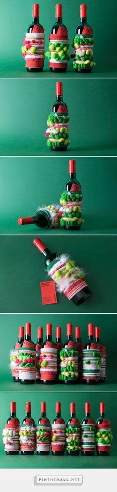 A Winter Warmer wine packaging design by NotOnSunday X The London Loom - http://www.packagingoftheworld.com/2017/12/a-winter-warmer.html