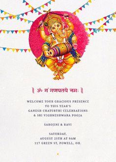 Here we share happy ganesh chaturthi invitation card format 2018 celebrate ganesh chaturthi with inytes ganeshchaturthi vinyakachavithi vinayaka stopboris Gallery