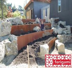 How To Install Corten Steel Retaining Wall - Garden Inspiration
