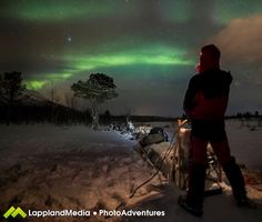 SOLAR WIND SPARKS AURORAS: As predicted, Earth is entering a stream of solar wind blowing almost 600 km/s. This is sparking green auroras around the Arctic Circle. Last night in Abisko, Sweden, photographer and tour guide Peter Rosén witnessed the onset of the display from the runners of a dog sled: