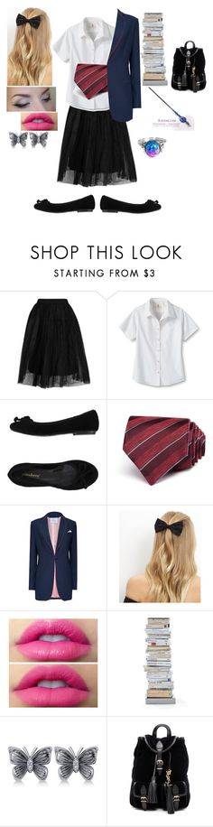 """To Ilvermorny"" by sarawaters100 ❤ liked on Polyvore featuring Topshop, Lands' End, PrimaDonna, John Varvatos * U.S.A., New Look, Opinion Ciatti, Allurez and Yves Saint Laurent"