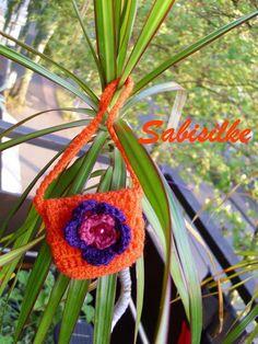 Puppenkleidung - Handtasche mit Blüte für Barbie ** orange, lil... - ein…