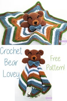 Cuddliest Crochet Bear Lovey | Free Pattern from Sewrella