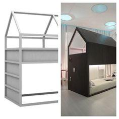 Stapelbed Ikea Hack http://www.ikeahackers.net/2014/06/kura-little-forest-house.html
