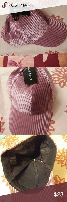 Mauve velvet pleat baseball hat Mauve velvet pleat  baseball Jane&Berry Accessories Hats