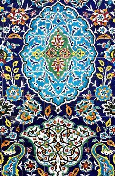 Islamic mosaic art by Ali Doosti - Damascus City, Syria Islamic Art Pattern, Pattern Art, Tile Patterns, Ceramic Tile Art, Mosaic Art, Islamic Tiles, Paisley Art, Anatomy Art, Art Logo