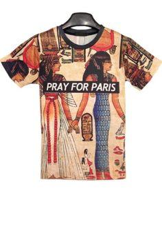 Pray For Paris Short Sleeve Tee OASAP.com