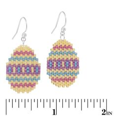 Easter Eggs Earrings   Fusion Beads Inspiration Gallery - maybe a bit too large