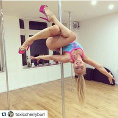 What do you think about this pretty pole trick posted by @toxiccherryburl in @badkittyusa outfit? I like it! Can anyone #NameThatPoleTrick? If so, write your answers below #PoleDanceNation #PoleDance #PoleDancer #PoleTrick #PoleTricks #PoleTrickOfTheDay #POTD #Pretty #PoleDanceFitness #PoleFit #PoleFitness #Fit #Fitness #GymFlow #Workout #Exercise