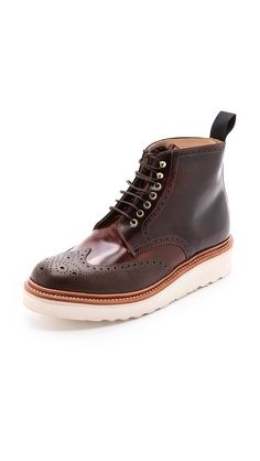 Grenson G Lab Brogue Boots for East Dane