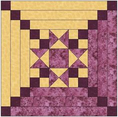Looking for your next project? You're going to love Star Center Log Cabin Quilt Block by designer FeverishQuilter. - via @Craftsy