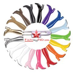 If we ever do move to somewhere they have weather, I see myself becoming more reliant on the go-go boot and tights.  It's about the only closed-toed shoe in my wardrobe.  I shall be building up to owning the entire colorwheel.  Thank goodness for stripper supply companies.
