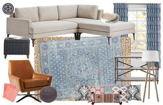 Contemporary, Eclectic, Bohemian, Global Living Room by Havenly