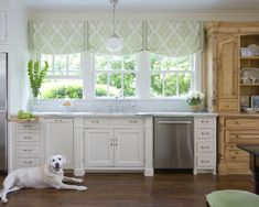 Amazing Ideas Of Kitchen Window Dressings: Vintage Kitchen With Marble Floors ~ dropddesign.com Kitchen Inspiration