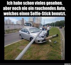 Ich habe schon vieles gesehen, aber noch nie ein rauchendes Auto.. | Lustige Bilder, Sprüche, Witze, echt lustig