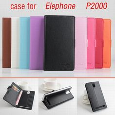 9 colors Classic Leather case For ELEphone P2000 P 2000 Flip Cover case housing With Card Slot ELE Phone Cover Cases
