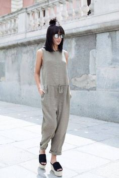 9d801bf115 Hair  Half Up Top Knot + jumpsuit + sandals